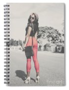 Tall Young Black Woman Modelling Handbag Accessory Spiral Notebook