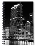 Tampa Black And White  Spiral Notebook