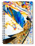 Tartaric Acid Crystals In Polarized Light Spiral Notebook