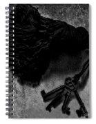 Tassled Vintage Skeleton Keys Spiral Notebook