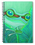 Teal Frog Spiral Notebook