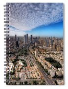 Tel Aviv Skyline Spiral Notebook