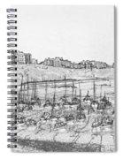 Tenby Harbor Panorama Spiral Notebook