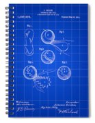 Tennis Ball Patent 1914 - Blue Spiral Notebook