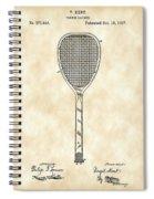 Tennis Racket Patent 1887 - Vintage Spiral Notebook