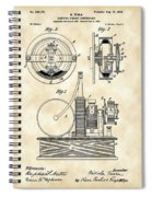 Tesla Electric Circuit Controller Patent 1897 - Vintage Spiral Notebook