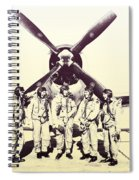Test Pilots With P-47 Thunderbolt Fighter Spiral Notebook