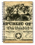 Texas Banknote, 1839 Spiral Notebook