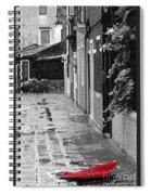The Abandoned Umbrella Spiral Notebook