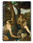 Adam And Eve After The Expulsion From Paradise Spiral Notebook