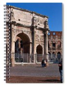 The Arch Of Constantine And Colosseum Spiral Notebook