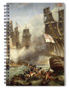 The Battle Of Trafalgar Spiral Notebook