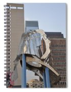 The Ben Franklin Sculpture Spiral Notebook