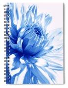 The Blue Dahlia Flower Spiral Notebook