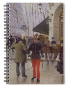 The Boulevard Des Capucines And The Vaudeville Theatre Spiral Notebook
