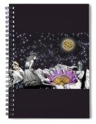 The Clock's Petals Open Spiral Notebook