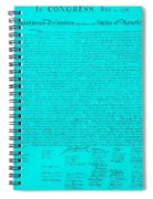 The Declaration Of Independence In Turquoise Spiral Notebook