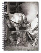 The Farrier, From Etudes De Cheveaux Spiral Notebook