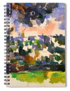 The Garden At Les Lauves Spiral Notebook