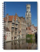 The Historic Center Of Bruges Spiral Notebook