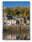 The Inner Harbour At Padstow Spiral Notebook
