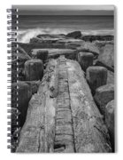 The Jetty In Black And White Spiral Notebook