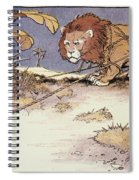 The Lion And The Mouse Spiral Notebook