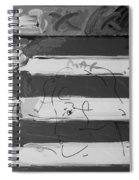 The Max Face In Black And White Spiral Notebook