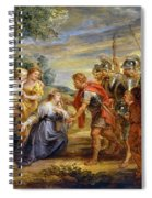 The Meeting Of David And Abigail Spiral Notebook