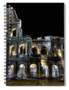 The Moon Above The Colosseum No2 Spiral Notebook