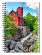 The Old Red Mill Jericho Vermont Spiral Notebook
