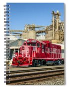 The Red Locomotive Spiral Notebook
