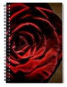 The Rose Digital Art Spiral Notebook