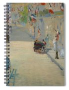 The Rue Mosnier With Flags Spiral Notebook