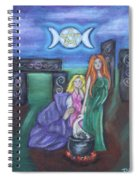 The Silvery Moon Spiral Notebook
