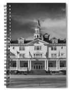 The Stanley Hotel Panorama Bw Spiral Notebook