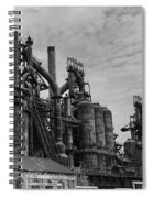 The Steel Mill In Black And White Spiral Notebook