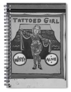 The Tattoed Girl In Black And White Spiral Notebook
