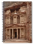 the treasury Nabataean ancient town Petra Spiral Notebook