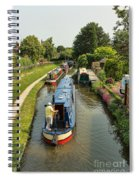 The Trent And Mersey Canal At Alrewas Spiral Notebook