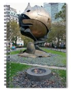 The W T C Plaza Fountain Sphere Spiral Notebook