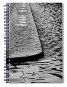 The Water Fountain In Black And White Spiral Notebook