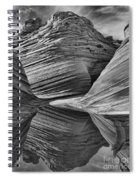 The Wave With Reflection Spiral Notebook