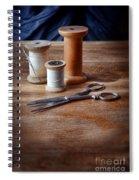 Thread And Scissors Spiral Notebook