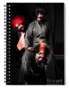 Three Clowns Having Fun Spiral Notebook