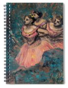 Three Dancers In Red Costume Spiral Notebook