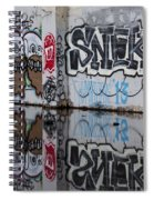 Three Skulls Graffiti Spiral Notebook