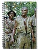 Three Soldiers Statue Spiral Notebook