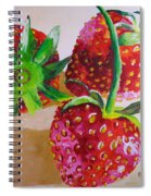 Three Strawberries Spiral Notebook