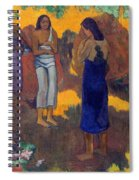Three Tahitian Women Against A Yellow Background Spiral Notebook